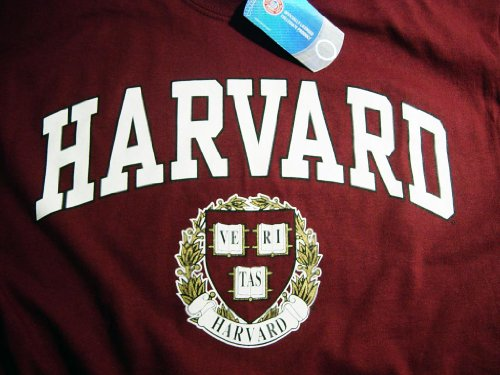 Harvard Shirt T-Shirt Hoodie Sweatshirt University Business Law Apparel Clothing Medium by Officially Licensed by Harvard University (Image #1)