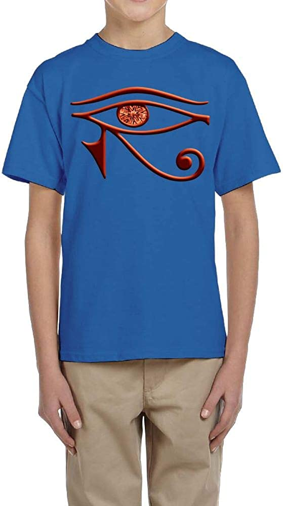 Fzjy Wnx Boys Short-Sleeve T-Shirts Crew Egyptian Horus of Eye