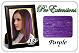 "Pro Extensions 18"" Purple Highlight Streaks Clip-in Human Hair Extensions"