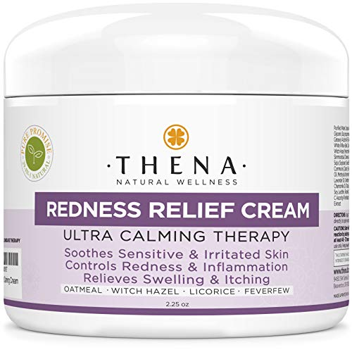 (Redness Relief Face Cream Rosacea Skin Care with Colloidal Oatmeal Best Natural Rosacea Treatment for Eczema Face Anti Itch Dry Sensitive Skin Organic Facial Moisturizer Treatment Lotion Products)