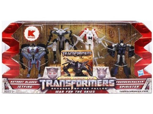 Transformers 2 Revenge of the Fallen Movie Exclusive Legends Action Figure Box Set War for the Skies Blades, Jetfire, Thundercracker & Spinister (Transformers 2 Jetfire Toys)
