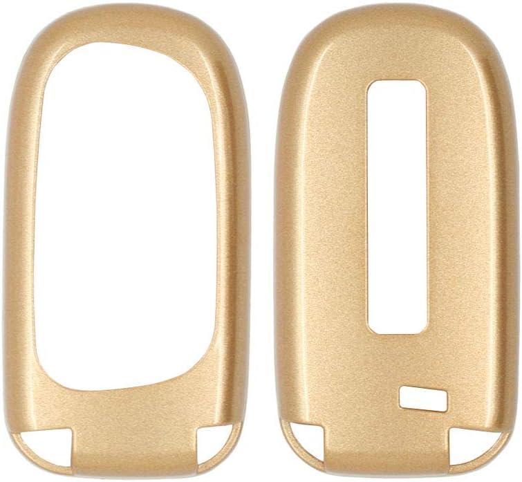 SEGADEN Paint Metallic Color Shell Cover Hard Case Holder Compatible with DODGE CHRYSLER JEEP Smart Remote Key Fob 2 3 4 5 Button SV0600 Black