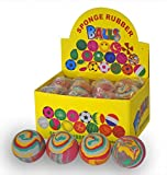 X4 Marble Effect Bouncy Sponge Ball Pocket Money Party Bag Filler Toy