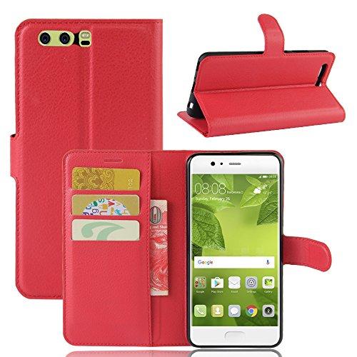 Manyip Funda Huawei P10 Plus,Caja del teléfono del cuero,Protector de Pantalla de Slim Case Estilo Billetera con Ranuras para Tarjetas, Soporte Plegable, Cierre Magnético(JFC5-17) D