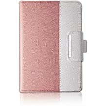 New iPad 2017 Case Ipad 9.7 Inch Case / iPad Air Case,Thankscase Rotating Case Smart Cover with Stand Build-in Wallet Pocket and Hand Strap for New iPad 9.7 2017 Release (Rose Gold)