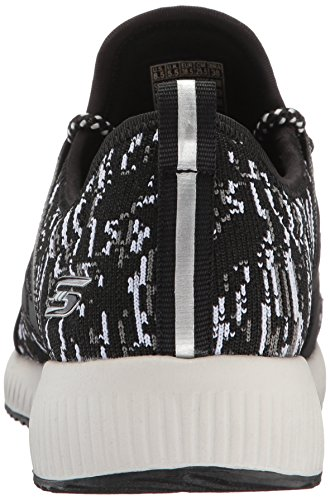 Skechers BOBS Damen BOBS Squad-Double Dare Fashion Sneaker Schwarz-Weiss