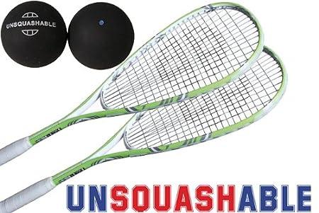 Unsquashable DSP 400 - Juego de 2 raquetas de squash (incluye ...