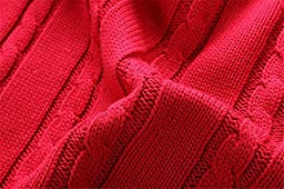 Tortor 1Bacha Little Boys\' V-Neck Cable Knit Sweater Vest Red 24M