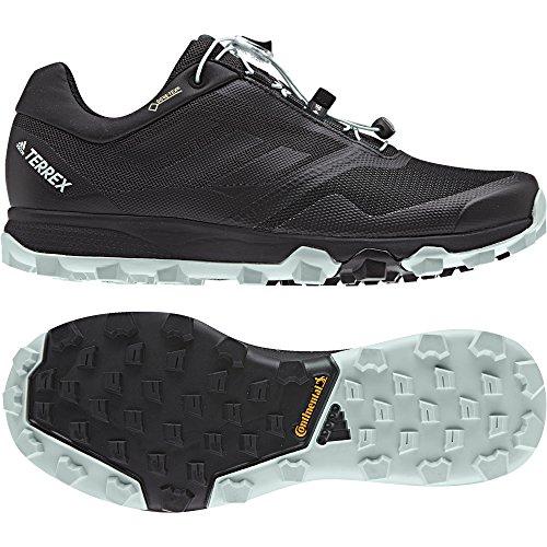 adidas Damen Terrex Trailmaker GTX Traillaufschuhe Schwarz (Gris Carbone/Noir/Vert Cendre)