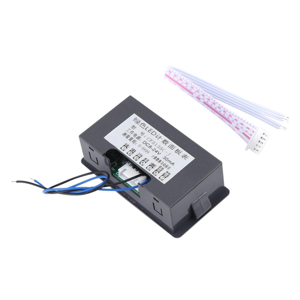 con cable Contador de tr/áfico digital para coche tama/ño peque/ño 1.00V