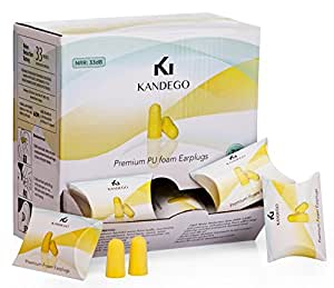 Kandego NRR 33 Ear Plugs - 30 Pairs