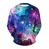 Men's Casual Sweatshirts 3D Printing Pullover Long Sleeve T Shirt Male Top Blouse by SanCanSn (A#Blue,L/XL)
