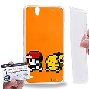 Case88 [Sony Xperia C4 / C4 Dual] Gel TPU Carcasa/Funda & Tarjeta de garantía - Pokemon Pokemon gameplay gameboy 0797