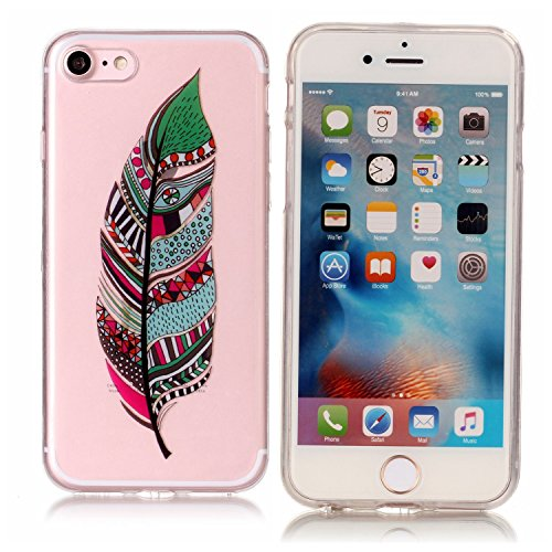 Coque Etui iPhone 7 , Leiai Feuille De Couleur Silicone Gel Case Avant et Arrière Intégral Full Protection Cover Transparent TPU Housse Anti-rayures pour Apple iPhone 7