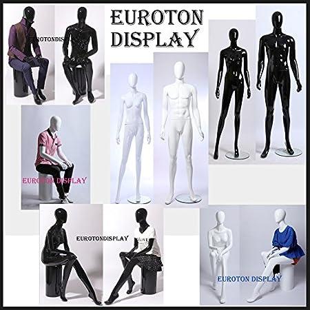 RH Torso Büste Stoff flexible Arme Damenbüste Schaufensterfigur weiblich Schwarz