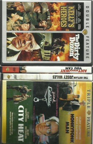 Clint Eastwood Collection (6) Movies the Outlaw Josey Wales Any Which Way You Can Honkytonk Man Pink Cadillac City Heat Kelly's Heroes