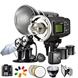 Godox Witstro AD600BM 600WS HSS 1/8000s 2.4G Wireless Outside Studio Flash Light 8700mAh Battery with X1T-S Wireless Flash Trigger AD-H600B Portable Flash Head and other Useful Flash Accessories