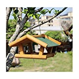 Cheap Wooden Bird Feeder for Outside Proof Stand, Wild Bird House Feeders German Style