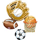 Sports Lg Mylar Balloon 26″ Basketball Baseball Soccer Football, Health Care Stuffs