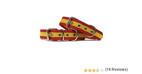 Happyzoo Collar Bandera de España para Perro 40 cm: Amazon.es: Productos para mascotas