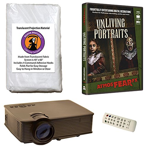Reaper Brothers Halloween Digital Decoration Kit Includes 1900 Lumen Projector, 60