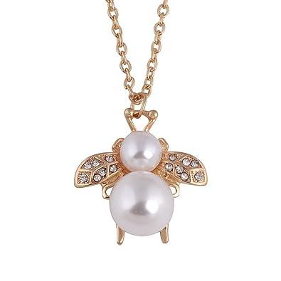 Et Diamant Perle Pendentif Été Abeille Jjsmile Délicat Printemps eH2I9EDbWY
