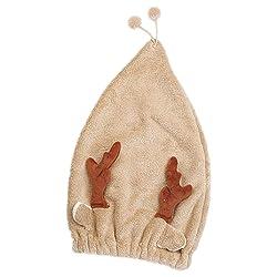 Pgojuni Microfiber Hair Turban Quickly Dry Hair Hat Wrapped Towel Bathing Cap Hair Towel Wrap 1pc (O)