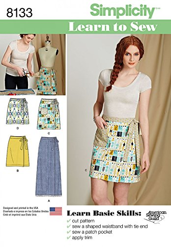 Simplicity Ladies Easy Learn To Sew Sewing Pattern 8133 Wrap Skirts