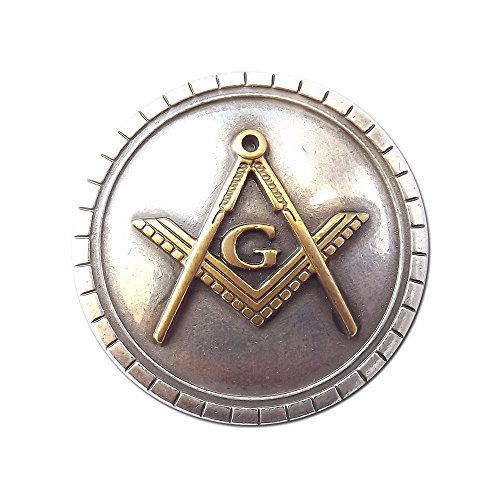 Masonic Sterling and Gold Plated Hand Rubbed Antique Finish Conchos