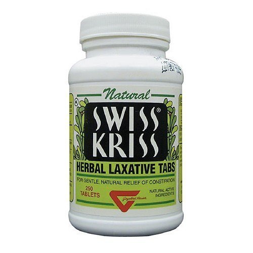 250 Tab Swiss Kriss Laxative - Swiss Kriss Herbal Laxative, Tablets 250 ea by Swiss Kriss