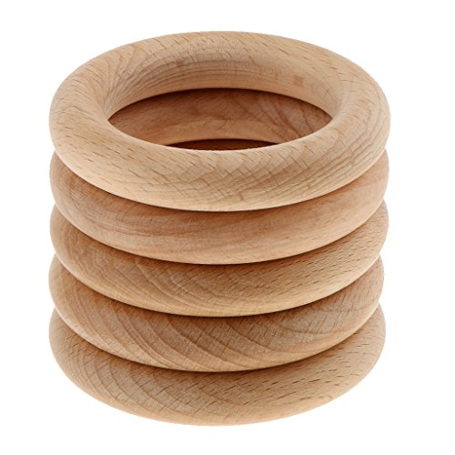 Wholesale Unfinished Wood - Homyl 5pcs Wholesale Wood Unfinished 7cm Round Wooden Bangles Bracelet DIY