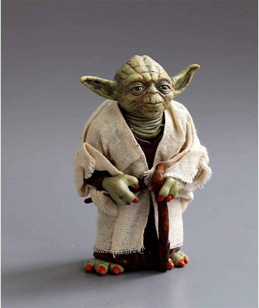 Anime Figure Statue Star Wars Yoda Master 12CM Real Clothes Can Be Done, Hand Model Wedding Gifts Ornaments Desktop Ornaments PVC Material Toy Statue
