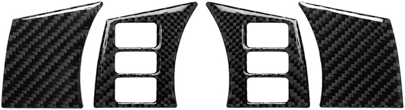 Car Interior Carbon Fiber Steering Wheel Panel Cover Fit for Nissan 350z 2006-2009 A Steering Wheel Trim