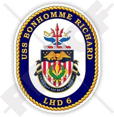 USS Bonhomme Richard LHD-6 Badge, US NAVY Amphibious Assault Ship, USA American 3,7