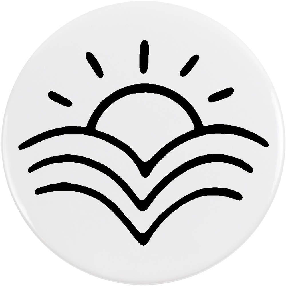 Azeeda 77mm 'Lever du Soleil' Bouton de Badge (BB00047602)