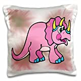 Blonde Designs Cute Cuddly Country Designs - Cute Country Pink Dinosaur - 16x16 inch Pillow Case (pc_202575_1)