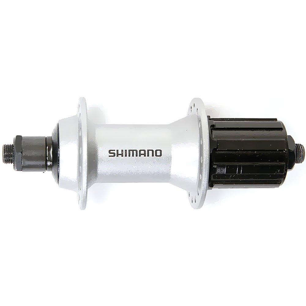 SHIMANO Kassetten-H.R.-Nabe 'Alivio' FH-T 4000 Mod.15 SB-verpackt, mit Hohlachse / Schnellspanner 173mm, 8-/9-/10-fach 135mm Einbaubreite, 146mm Achslänge, 32Loch, silber