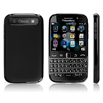 BlackBerry Classic Case, BoxWave® [Blackout Case] Durable, Slim Fit, Black TPU Cover for BlackBerry Classic from BoxWave Corporation