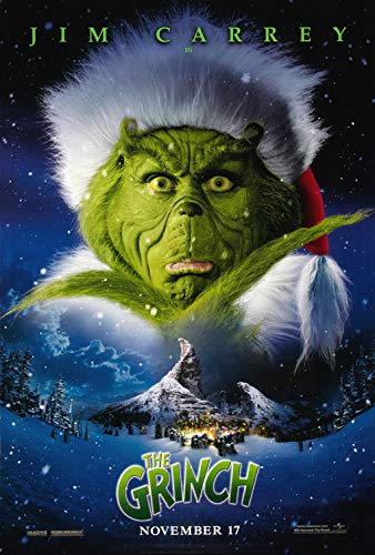 DR SEUSS' HOW THE GRINCH STOLE CHRISTMAS (2000) Original Authentic Movie Poster 27x40 - DS - Jim Carrey - Taylor Momsen - Jeffrey Tambor - Christine ()