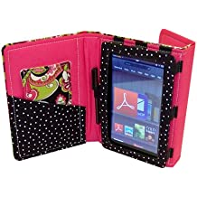 Fashion Tec Arabella Kindle Fire Protective Case Cover with Stand, Includes Stylus and Screen Cleaner Cloth - Fits Kindle Fire (Does Not Fit Kindle Fire HD)