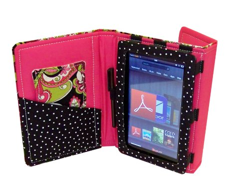 Fashion Tec Arabella Kindle Fire Protective Case Cover with Stand, Includes Stylus and Screen Cleaner Cloth – Fits Kindle Fire (Does Not Fit Kindle Fi…