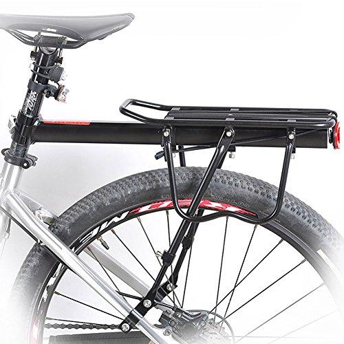 BlackRomance Bike Cargo Racks Fahrrad Pannier Rack Mountain Carrier Hintere Rack Alloy Rear Rack Sitzlade 110LB Gepäck Taschen für Radfahren Camping Sport