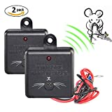 2 × VENSMILE Ultrasonic Control Under Hood Pest Repeller Rodent repellent ...
