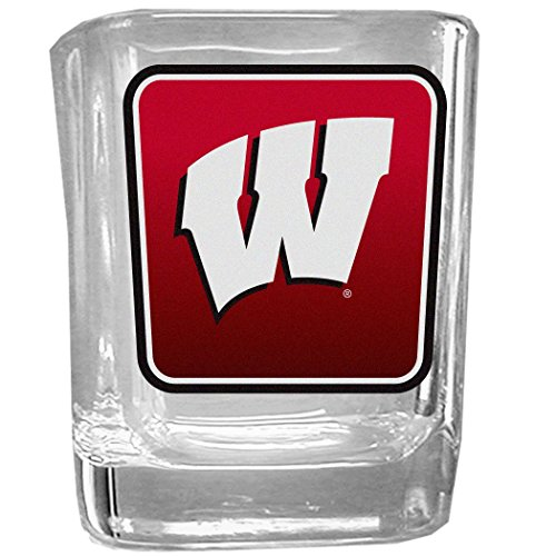 (NCAA Wisconsin Badgers Square Glass Shot Glass)