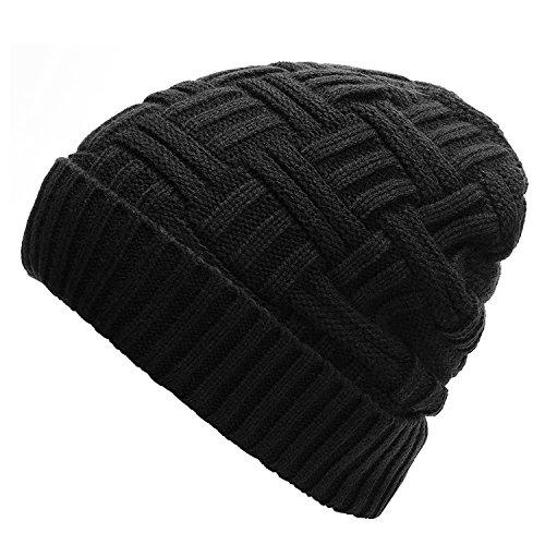 (Odema Mens Winter Warm Knitting Hats Wool Baggy Slouchy Beanie Hat Skull Cap)