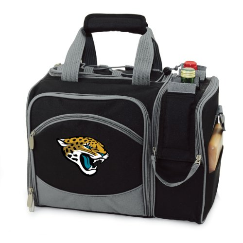 - PICNIC TIME NFL Jacksonville Jaguars Malibu Insulated Shoulder Pack with Deluxe Picnic Service for Two