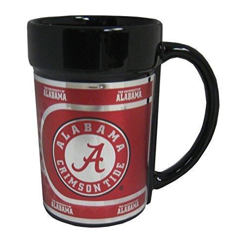 (NCAA Alabama Crimson Tide 15 oz Ceramic Coffee Mug with Metallic Graphics)