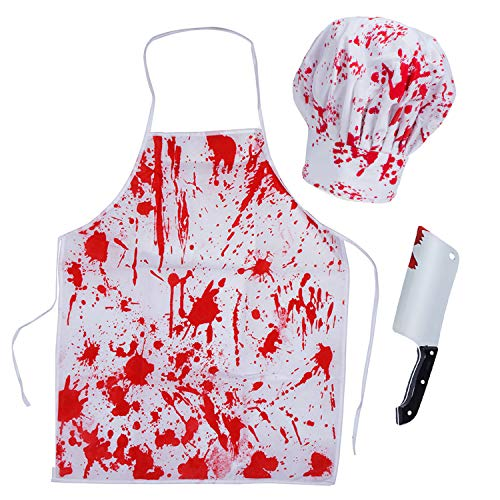 Funny Original Easy Halloween Costumes (Tigerdoe Bloody Butcher Costumes - Scary Costumes - Halloween Costume - 3 Pc)
