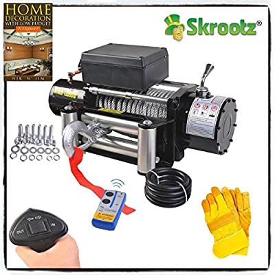 Classic 12V Electric Recovery Winch Truck SUV Durable or Wireless Remote Control 12000lbs 12500lbs 9500lbs by Skroutz