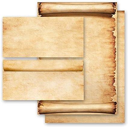 Motiv-Briefpapier-Set SOMMERZWEIGE 100-tlg ohne Fenster Set DL